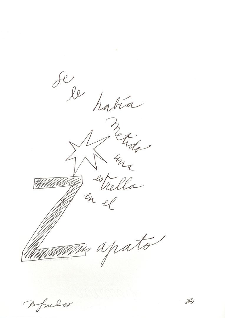 1984 - Se le había metido una estrella en el zapato<div style='clear:both;width:100%;height:0px;'></div><span class='cat'>Dibujos, Drawings</span>