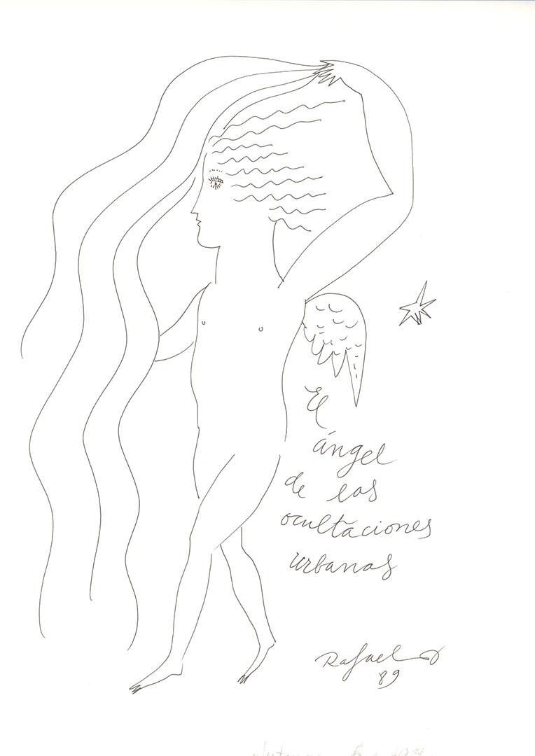 1989 - El ángel de las ocultaciones urbanas<div style='clear:both;width:100%;height:0px;'></div><span class='cat'>Dibujos, Drawings</span>