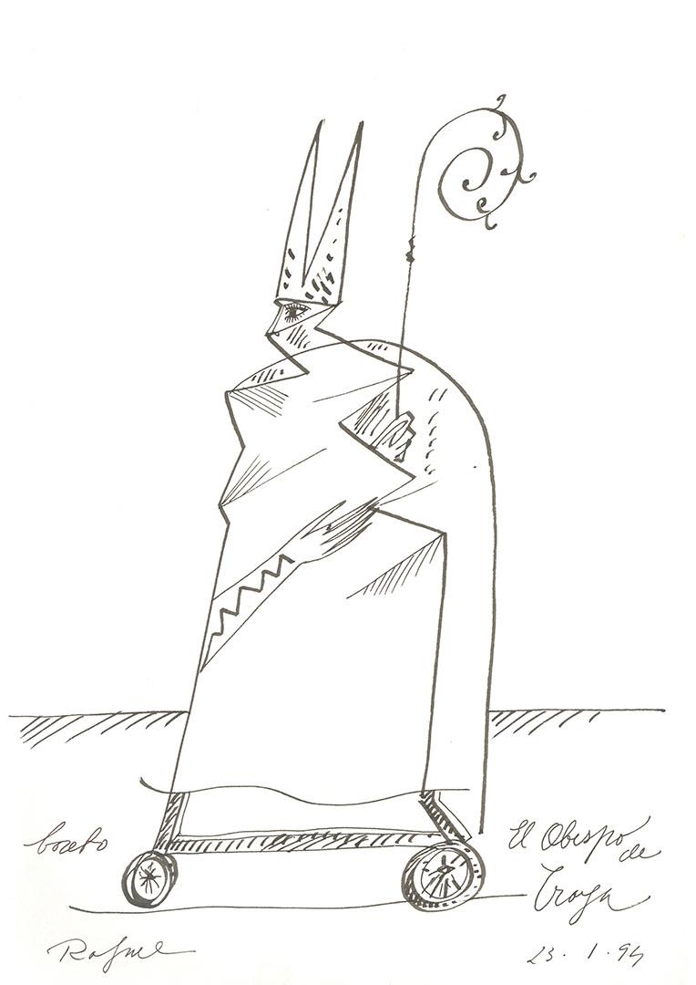 1994 - El obispo de Troya - Boceto<div style='clear:both;width:100%;height:0px;'></div><span class='cat'>Dibujos, Drawings</span>