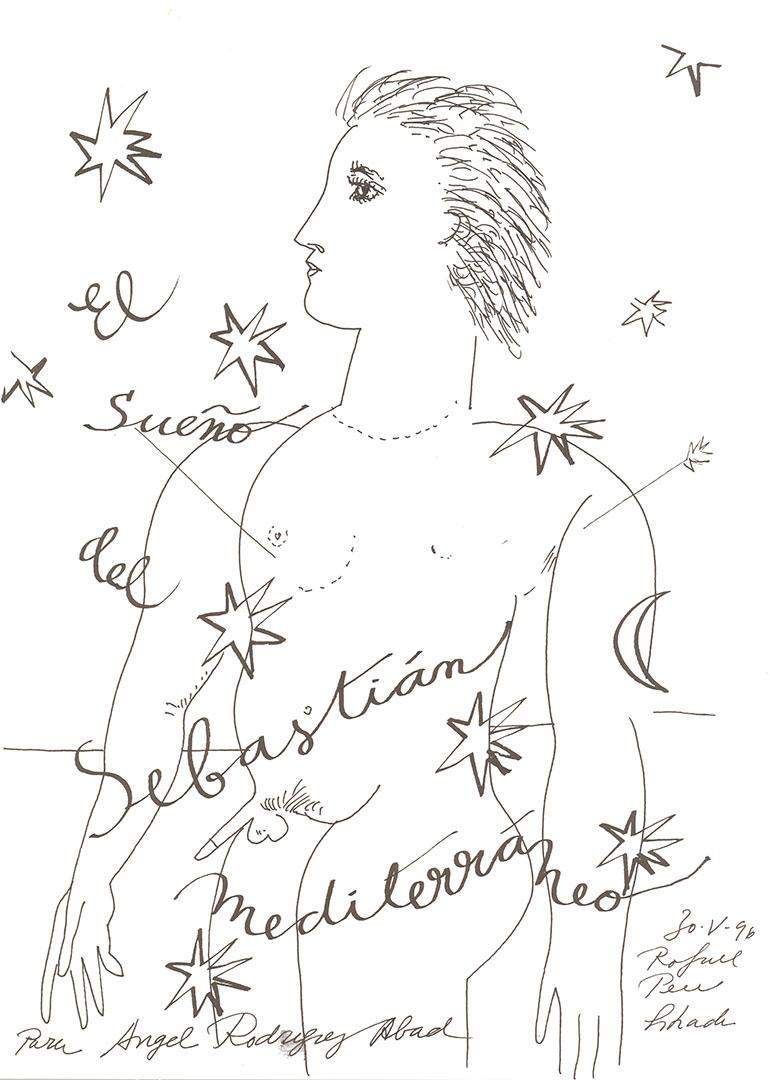 1996 - El sueño del Sebastián mediterráneo<div style='clear:both;width:100%;height:0px;'></div><span class='cat'>Dibujos, Drawings</span>